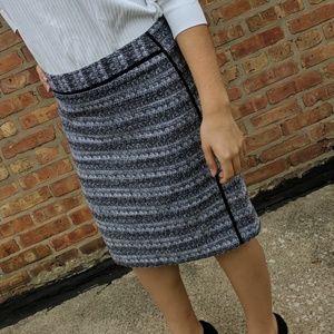 Liz Claiborne skirt black and white sz 10 …